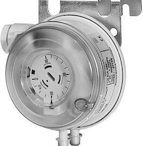 Presostato diferencial para la detección de flujo en conductos de aire o alarma de filtro colmatado.